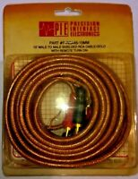 PIE | 10FT MALE  RCA TO MALE  RCA | P-RCA45-10MM | GOLD SHIELDED | FREE SHIPPING