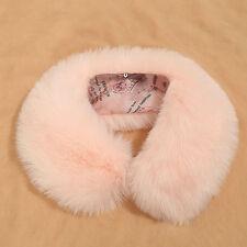 Luxury Womens Winter Rabbit Fur Scarf Warmer Wrap Collar Shawl Stole Colorful