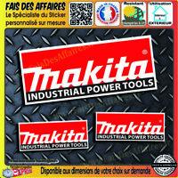 lot 3 Stickers autocollant Makita bricolage adhésif planche sponsor outillage