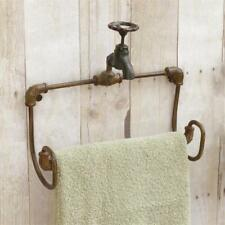 New Primitive Rustic Spigot Towel Bar Holder Wall Rack