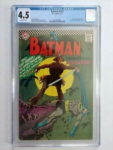 BATMAN #189! CGC 4.5! 1ST SILVER AGE APP OF SCARECROW! OW PGS! NO RES!