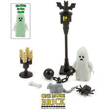 LEGO Haunted Halloween Kit - Ghost, Spider, Bat, Rat, Bone, Candlesticks & Lamp