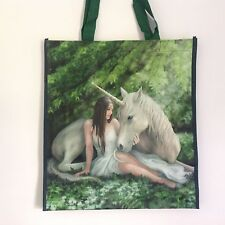 NEW ANNE STOKES GREEN SHOPPING BAG 'PURE HEART' UNICORN FANTASY MYTHICAL, TOTE