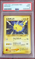 Pikachu #25 Japanese Neo Genesis Gem Mint PSA 9 Pokemon Rare 1999 Japanese FedEx
