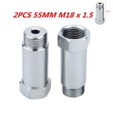 2 Pack O2 stainless steel oxygen sensor bung adapter extension extender M18-1.5