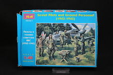 XS069 ICM 1/48 figurine 48021 Soviet Pilots and Ground Personnel 1943-1945 WWII