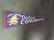 1971 DALLAS COWBOYS WORLD CHAMPIONS COWBOY JOE FELT PENNANT RARE