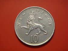 Great Britain 10 New Pence, 1975, Lion Animal