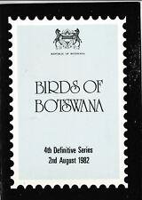 Ministerbuch Birds of BOTSWANA 1982 @Geschenk 19.UPU Kongress 1984 Hamburg