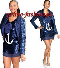 Dolce & Gabbana D&G White Anchor Navy Blue Palette Mini Dress