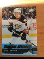 UPPER DECK 2016-2017 SERIES TWO JACOB LARSSON YOUNG GUNS HOCKEY CARD #495
