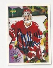 1994 Score Autographed Hockey Card Jason Allison Team Canada