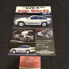 84-87 Honda CRX Mugen Turbo Kit Brochure Rare JDM Ballade Sports CR-X Si 85 86