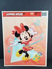 Vintage Walt Disney Minnie Mouse Dancing Golden Frame Tray Puzzle 20 Pcs 🧩