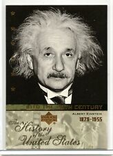 ALBERT EINSTEIN / History of the United States (2004) BASE Trading Card 20TH8