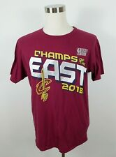 NBA Cleveland Cavaliers Champs East 2018 Mens SS Wine T Shirt by Fanatics Large