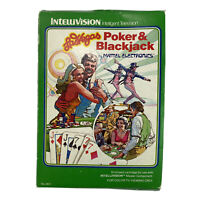 Intellivision Poker & Blackjack Game Boxed With Instructions & Control Overlays