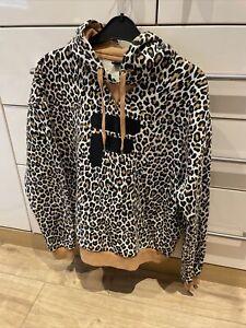New Fila Leopard Print Hooded Jumper
