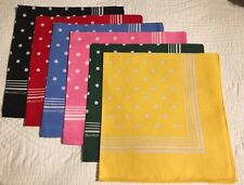 Enormous Handkerchief Men's Large  Spotted Cotton Hankies, Set Of 6