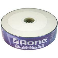 100 x AONE CD-R Vuoto CD Dischi full face white INKJET STAMPABILE 700 MB 80 MIN
