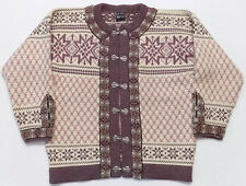Dale of Norway 100% Wool Nordic Fair Isle Cardigan Sweater Size 44 Large