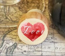 Wine Stopper, Love Over Heart Handmade Wood Bottle Stopper, Valentine's Day Gift
