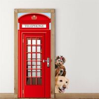 Funny Door Mural Bedroom 3D Art Wall Stickers Animals Mural Wall Decals