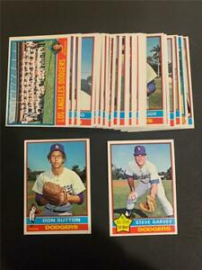 1976 Topps Los Angeles Dodgers Team Set 28 Cards With Traded