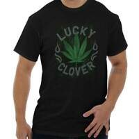 Lucky Clover Funny St Patricks Day Irish Womens or Mens Crewneck T Shirt Tee