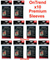 Ultra PRO Platinum Premium Card Soft Sleeves Clear Protector 10 Packs 100