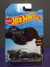 2018 Hot Wheels BATMAN: BATMOBILE. 2018 HW Batman series, 4/5. Long card.