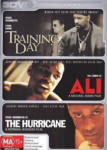 TRAINING DAY / ALI / THE HURRICANE (3 DVD) Collection DENZEL WASHINGTON ***