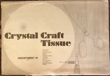 "Vintage Crystal Craft Tissue Paper Assortment 50 61100. ""Rare� Crafts, Murals"