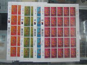 China Hong Kong 2000 Full S/S China New Year of Dragon stamp
