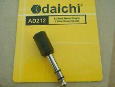 Audio Headphone Adaptor - Stereo 6.5mm Plug to Stereo 3.5mm Socket # AD212