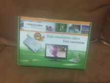 High Resolution Video VGA Conversion 15 Pin VGA to Video & S-video Converter
