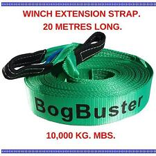 WINCH EXTENSION STRAP ROPE BOGBUSTER 20 METER 10000 KG TOW RECOVERY 4X4 4WD