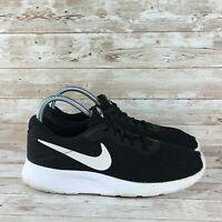 Nike Tanjun Womens Size 11 Black White Athletic Training Running Shoes