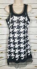 Anthropologie Yoana Baraschi Mod Houndstooth Sequin Dress Black White NEW 4