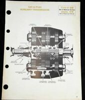 Spicer  1241&P1241 Transmission Auxiliary Bill Of Material Section T210-47 BM