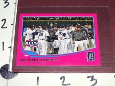 Detroit Tigers ALCS Team Card - 2013 TOPPS #179 Pink Mini SP/25 - BCA Online