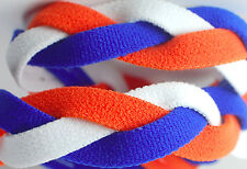 NEW! Royal Blue Orange White Grippy Band Headband Hair Sport Soccer Softball