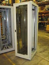 Net2000 7 Ft Network Cabinet Server Frame w/Fan, Glass Door, & Lock 19