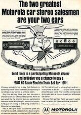 1974 Motorola TF864AX AM/FM Radio & TM213S 8 Track Tape Player Bunny Train Ad