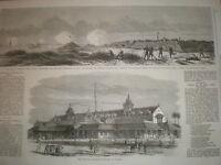 The Punjab Exhibition building Lahore Pakistan 1864 old print