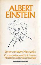 Einstein Letters on Wave Mechanics 86 Lorentz Planck Rare Paperback