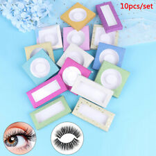 10set/lot 25mm Flash Blank Eyelashes Package Multicolor Paper Box White Tray P1