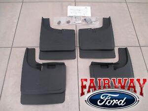 17 thru 22 Super Duty OEM Ford Splash Guard Mud Flap Set 4-pc SRW with LIP MLDG