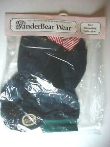 VanderBear Wear Tree Trimming Collection Cornelius VanderBear PJ/Robe/Slippers