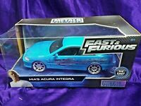 Fast & Furious Mia's Acura Integra Collectors Series Blue Die-Cast 1:24 Scale